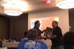 Gerald Griffin Presents Greg Steeves an Award for his Service to FOTAS.