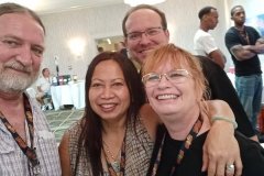 James Coleman, Delphena Truong, Keith Boggs and Diana Boggs.